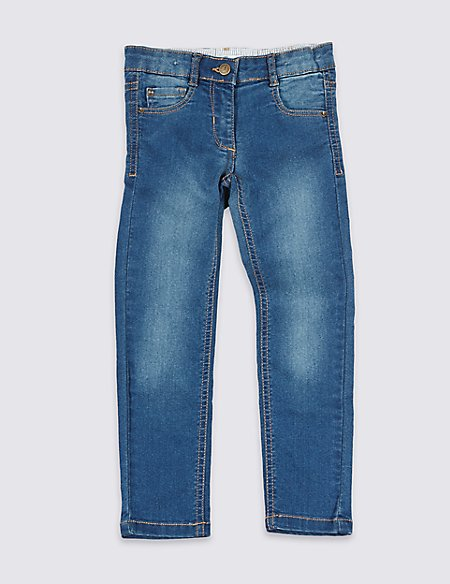 Cotton Rich with Stretch Skinny Denim Jeans (1-7 Years)