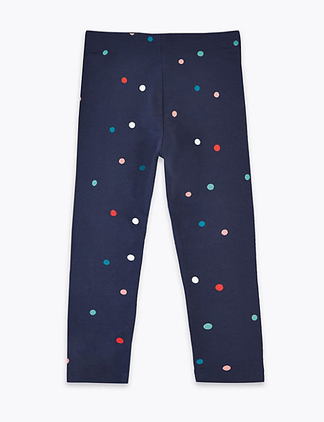 Cotton Spot Print Leggings (3 Months - 7 Years)