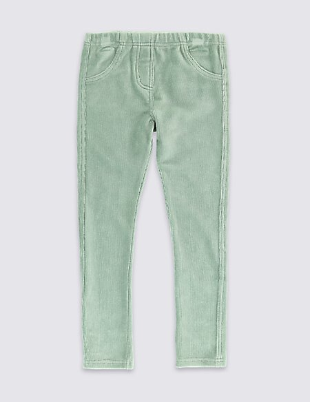 Cotton Blend Cord Jeggings (1-7 Years)