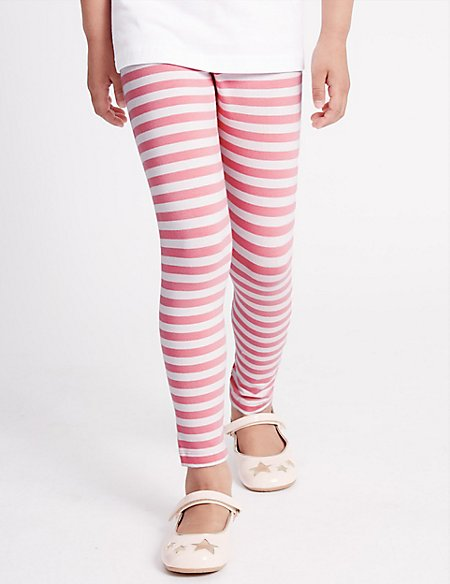 Cotton Rich Striped Leggings with StayNEW™ (3 Months - 5 Years)