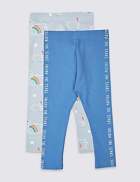 2 Pack Easy Dressing Leggings (3 Months - 7 Years)
