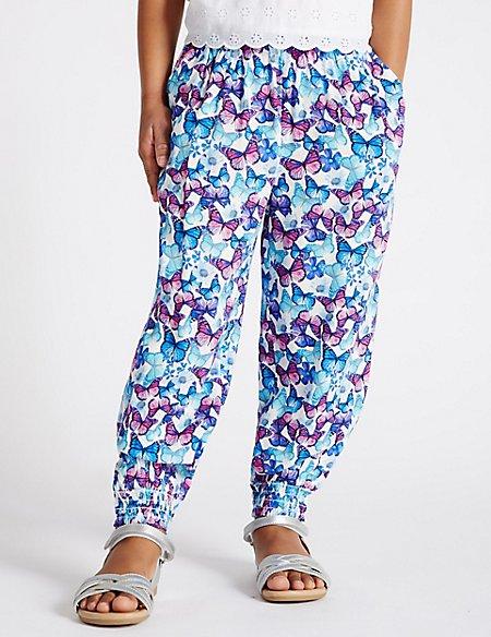 Butterfly Print Pyjama Trousers (1-7 Years)