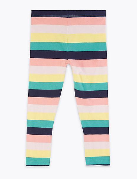 Cotton Rich Striped Leggings (2-7 Years)