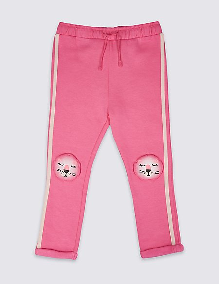 Cotton Rich Animal Knee Joggers (3 Months - 7 Years)