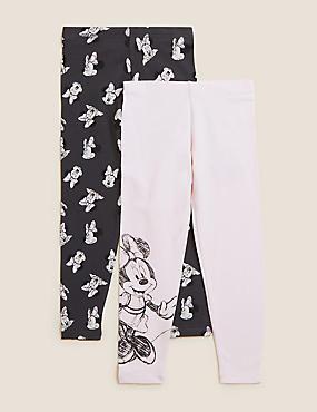 2pk Cotton Minnie Mouse™ Leggings (2-7 Yrs)