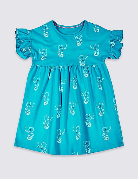 Easy Dressing Seahorse Dress (3 Months - 7 Years)