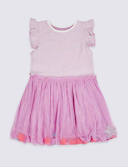 Puffball Hem Dress (3 Months - 7 Years)