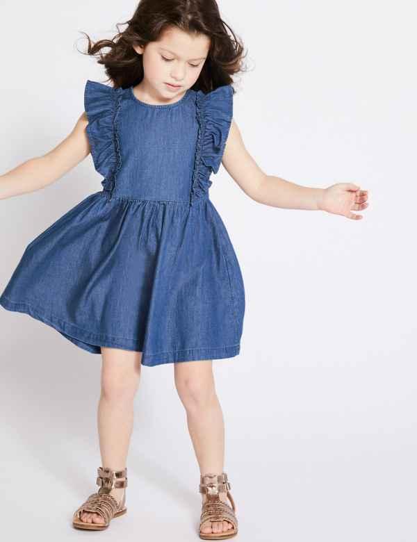 464522e6441 Denim Frill Dress (3 Months - 7 Years)