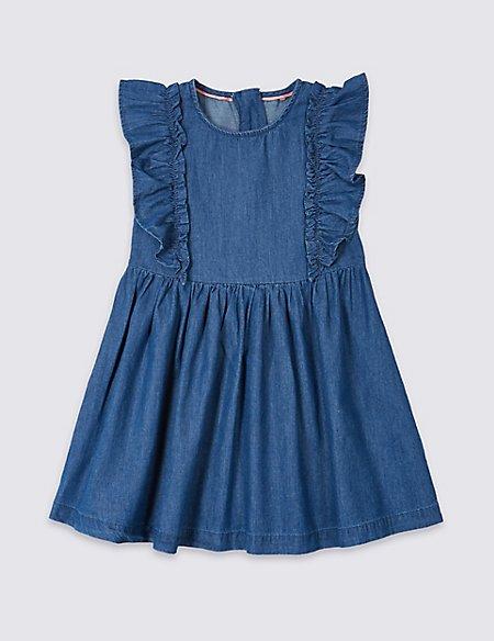 Denim Frill Dress (3 Months - 7 Years)