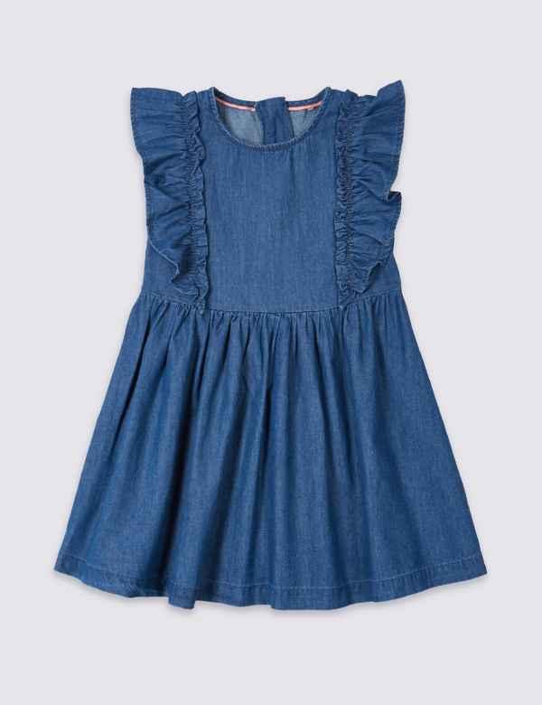 f4fa0ff2f7 Denim Frill Dress (3 Months - 7 Years)