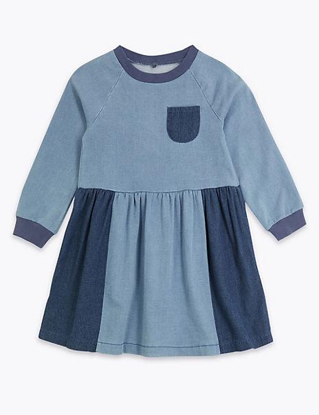 Denim Patch Dress (3 Months - 7 Years)