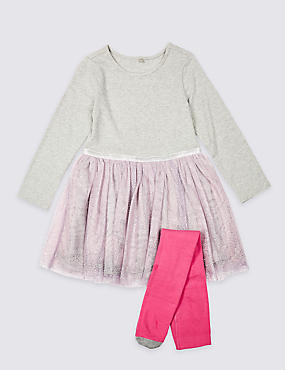 Dress & Tights Outfit (3 Months - 7 Years)