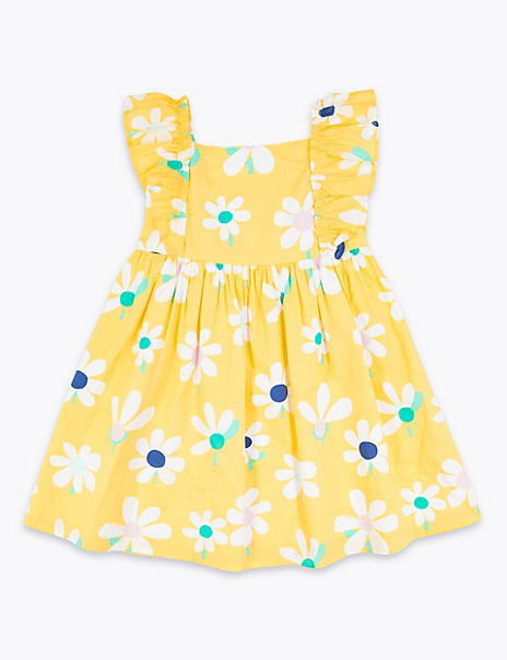 Cotton Floral Dress (2-7 Years)