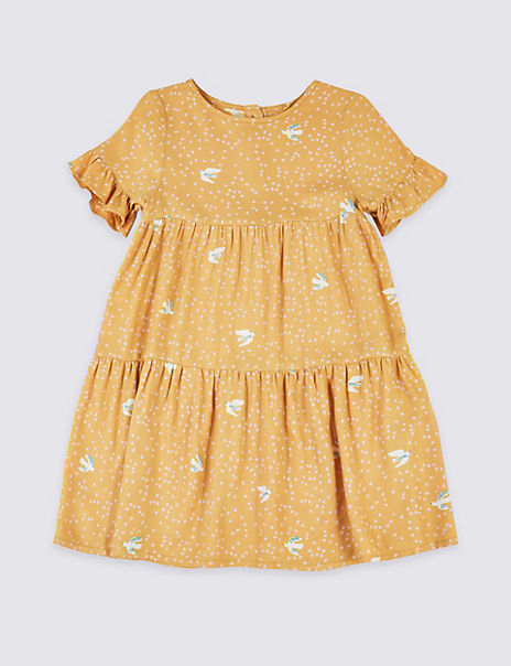 Bird Print Dress (3 Months - 7 Years)