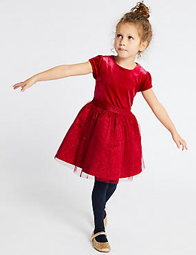 Sparkle Prom Dress (3 Months - 7 Years), RED, catlanding