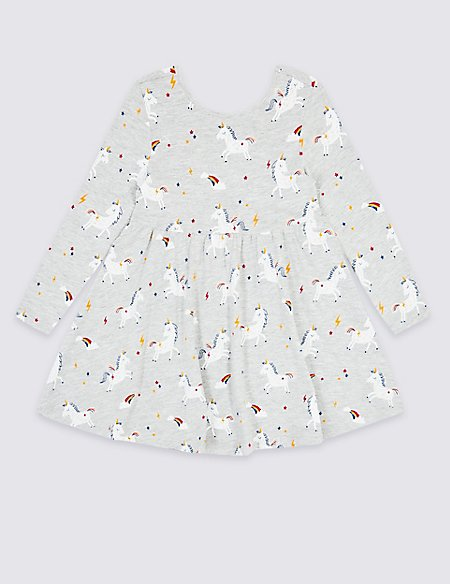 Unicorn Print Dress (3 Months - 7 Years)