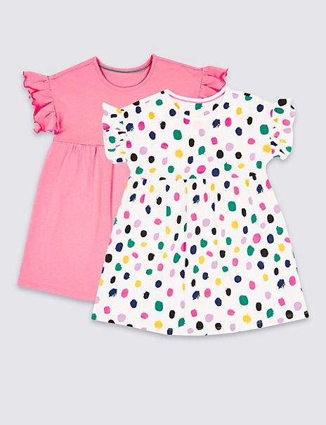 2 Pack Pure Cotton Dress (3 Months - 7 Years)