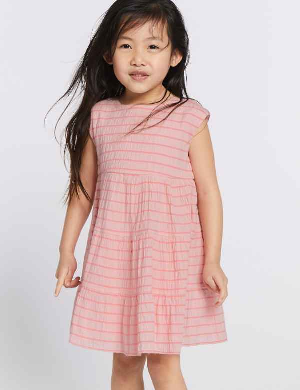 7e59235d429 Cotton Striped Dress with Stretch (3 Months - 7 Years)