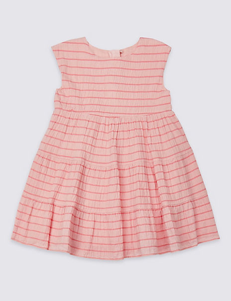 Cotton Striped Dress with Stretch (3 Months - 7 Years)