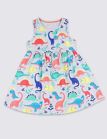 Cotton Rich Dinosaur Dress (3 Months - 7 Years)