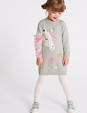 Unicorn Dress with Tights (3 Months - 7 Years)