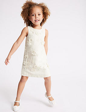 Embroidered Shift Dress (3-16 Years)