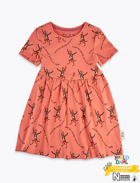Roald Dahl™ & NHM™ Fox Dress (2-7 Years)