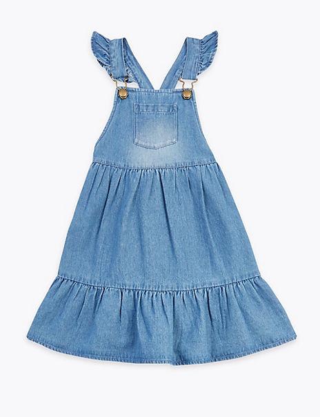 Cotton Denim Pinafore Dress (2-7 Years)