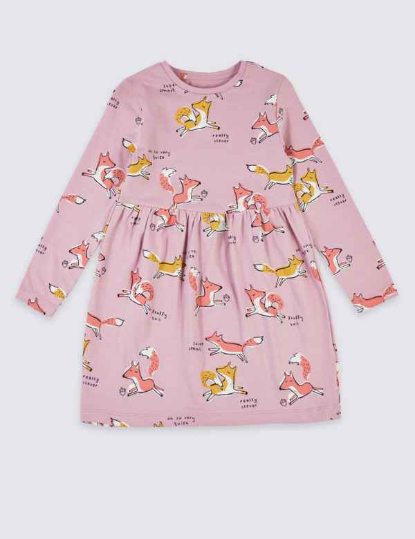 05a7983cc Fox Print Dress (3 Months - 7 Years). New