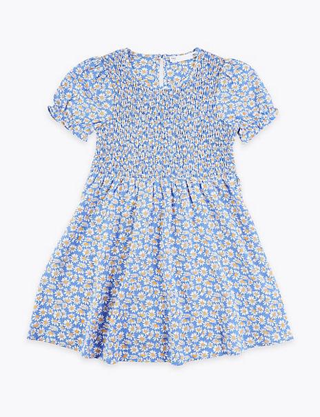 Daisy Print Smock Dress (2-7 Years)