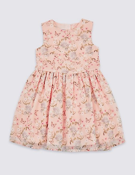 All Over Print Butterfly Dress (3 Months - 7 Years)
