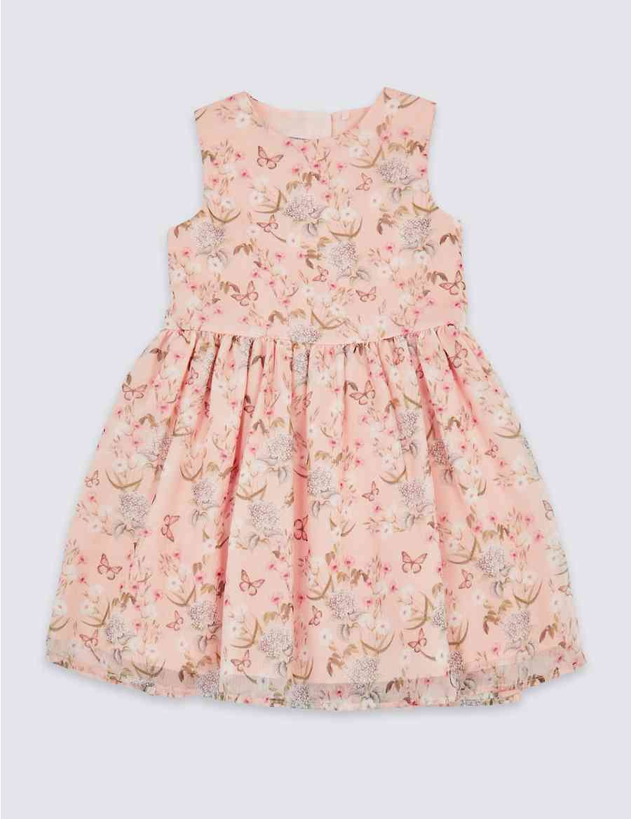 3d9fa22069f All Over Print Butterfly Dress (3 Months - 7 Years)