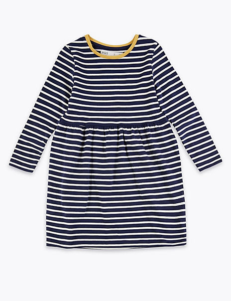 Pure Cotton Nautical Striped Dress (3 Months - 7 Years)