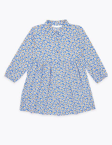 Daisy Print Shirt Dress (2-7 Years)