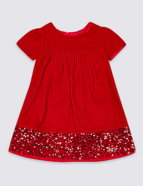 Velvet Sequins Dress (3 Months - 7 Years)