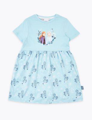 Cotton Disney Frozen 2 Elsa & Anna Dress (2-10 Yrs)
