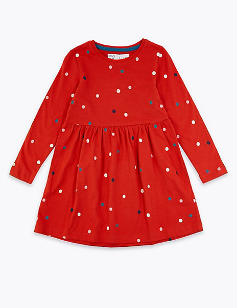Cotton Multi Spot Dress (3 Months - 7 Years)