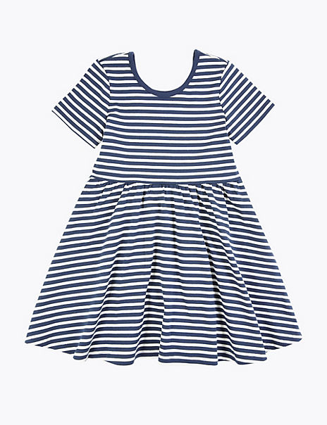 Cotton Striped Dress (3 Months - 7 Years)
