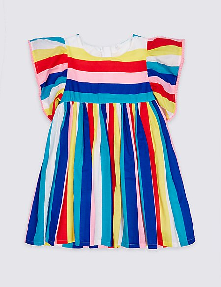 Striped Pure Cotton Dress (3 Months - 7 Years)
