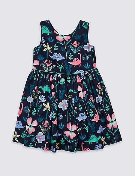 All Over Dinosaurs Print Dress (3 Months - 7 Years)