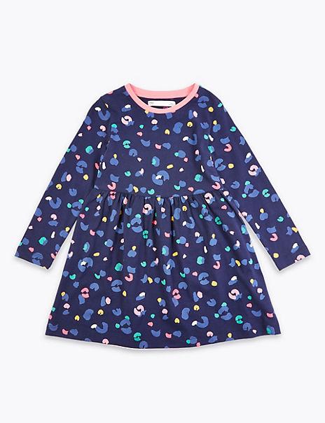 Cotton Leopard Print Dress (2-7 Years)