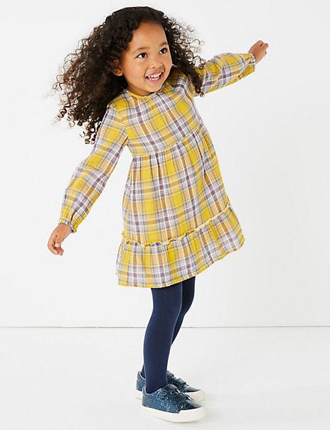 Pure Cotton Checked Outfit (3 Months - 7 Years)