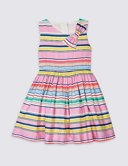 Striped Bow Dress (3 Months - 7 Years)