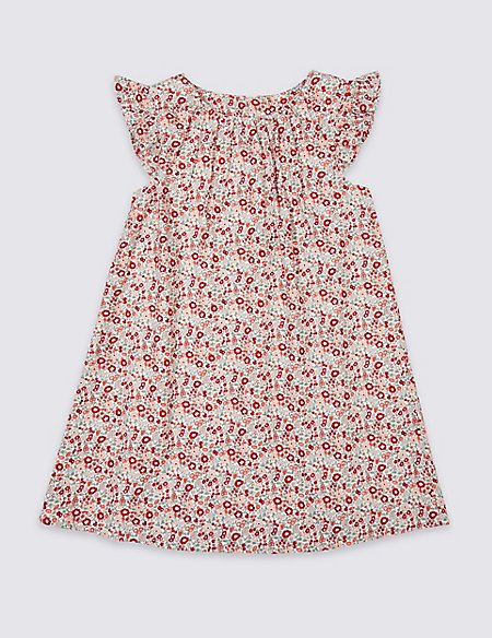 Pure Cotton Ditsy Floral Dress (3 Months - 7 Years)