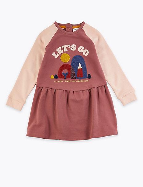 Let's Go Slogan Dress (3 Months - 7 Years)