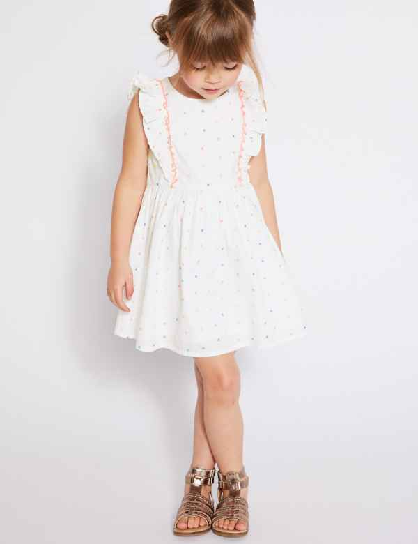 11a50ce30c Pure Cotton Bow Skater Dress (3 Months - 7 Years)