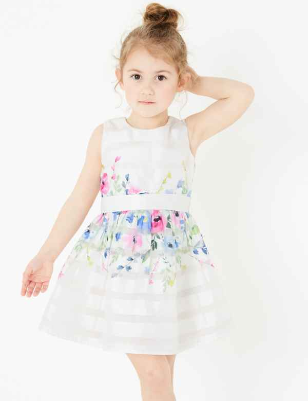 Marks and spencer Baby Girls Pretty Summer Dress Age 2-3 Years