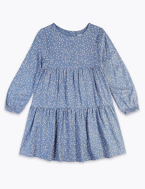Llama Print Dress (3 Months - 7 Years)