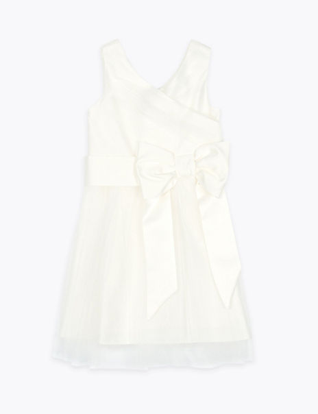 Tulle Bow Bridesmaid Dress (2-16 Years)