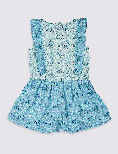 Ditsy Print Playsuit (3 Months - 7 Years)